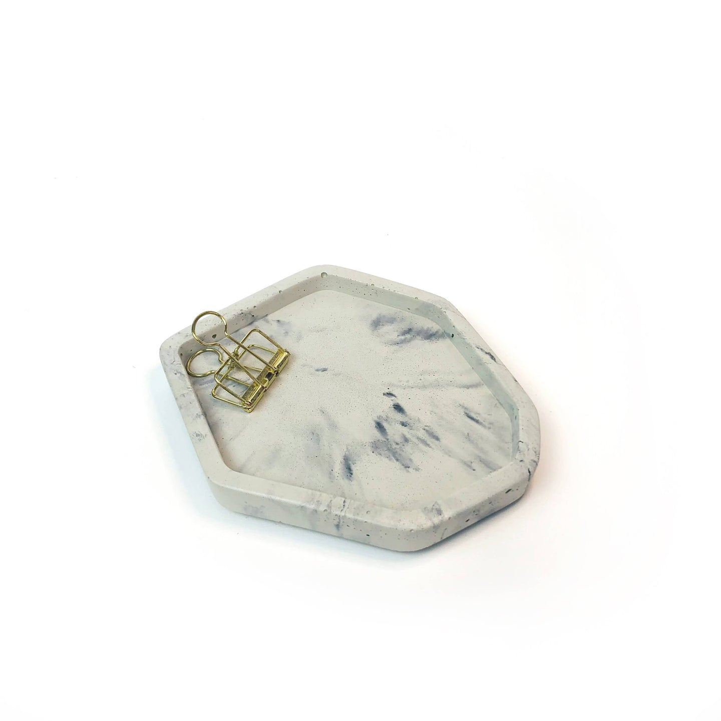 Known Goods Co. - Small Concrete Catch All Tray - Light Marble