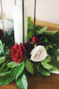 Scarlett Table Wreath with Flowers
