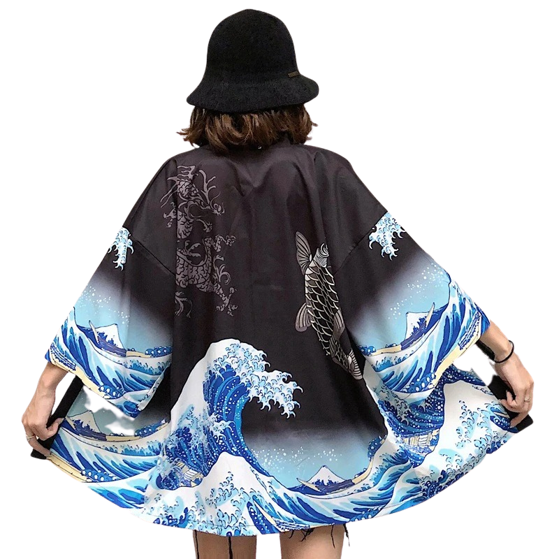 Japanese Harajuku Style kimono | Beautiful Japanese Art Blouse Yukata for Women - Oh My Cuteness