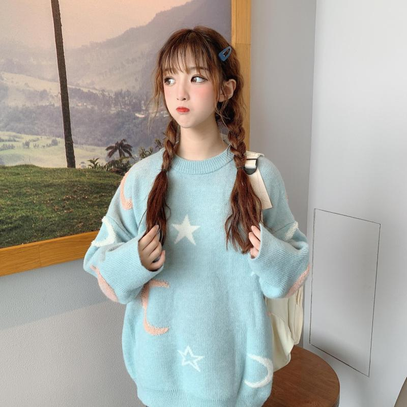 Moon & Star  Japanese Harajuku Style Sweaters - Oh My Cuteness