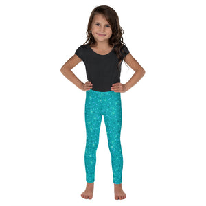 OOKS Glitter Teal Childrens Leggings