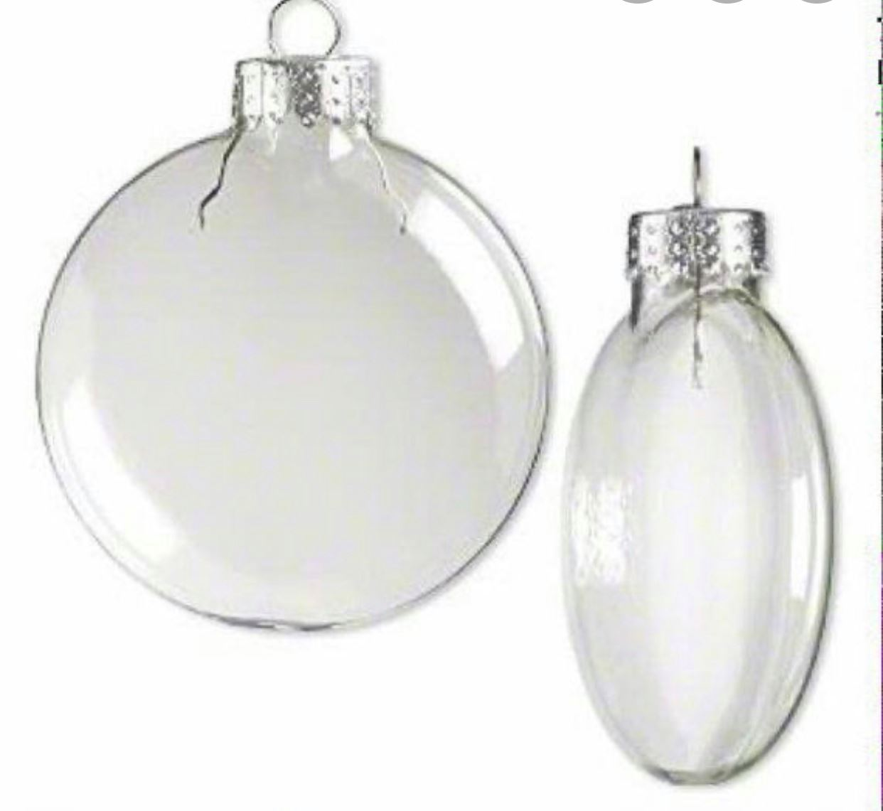 80mm Shatterproof Clear Disc Ornaments