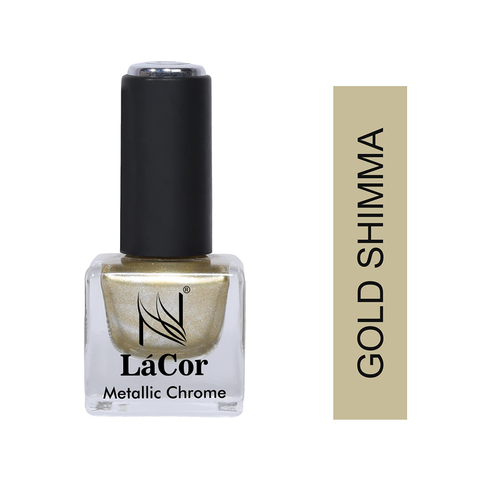 NLFE Chrome Nail Polish Gold Shimma