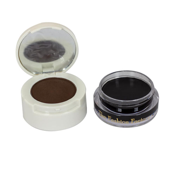 TFF 2 in 1 Eyebrow Powder Gel Eyeliner Black