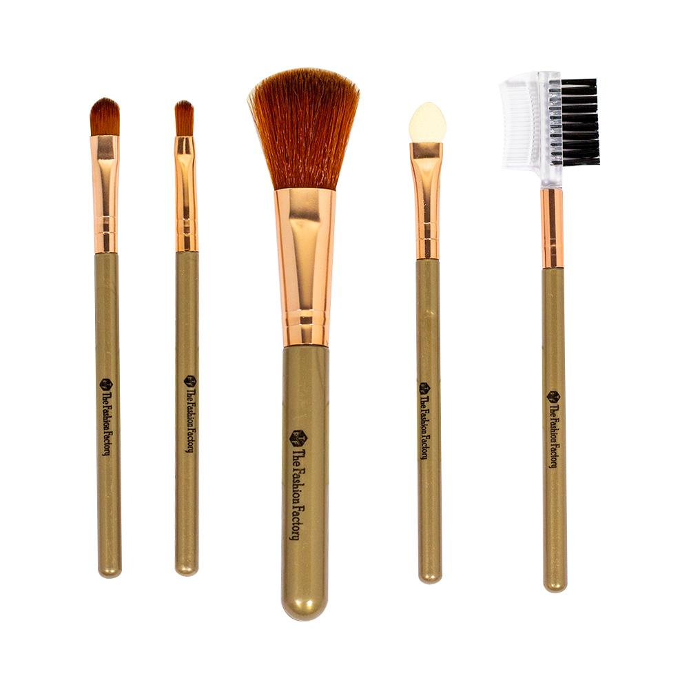 TFF Complexion Brush Set Makeup Tools Brown