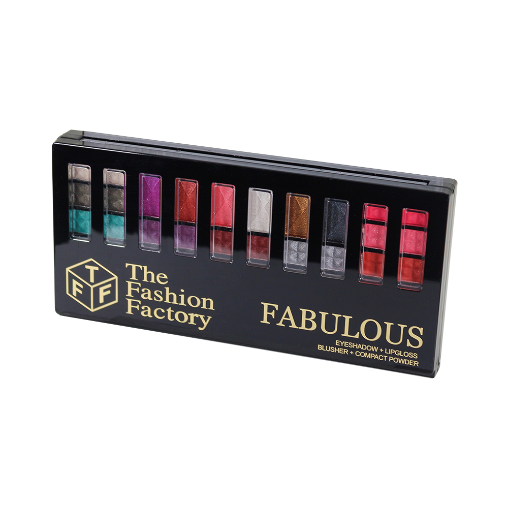 TFF Fabulous Eyeshadow + Lipgloss+ Blusher + Compact Powder Kit