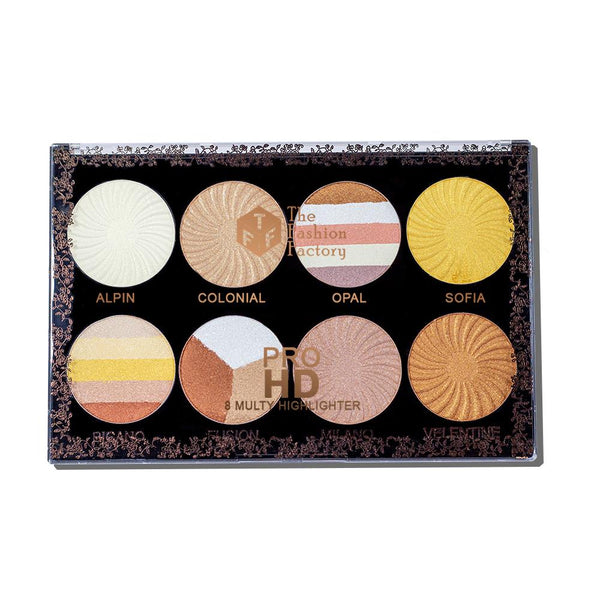TFF PRO HD 8 Multy Highlighter Palette 2
