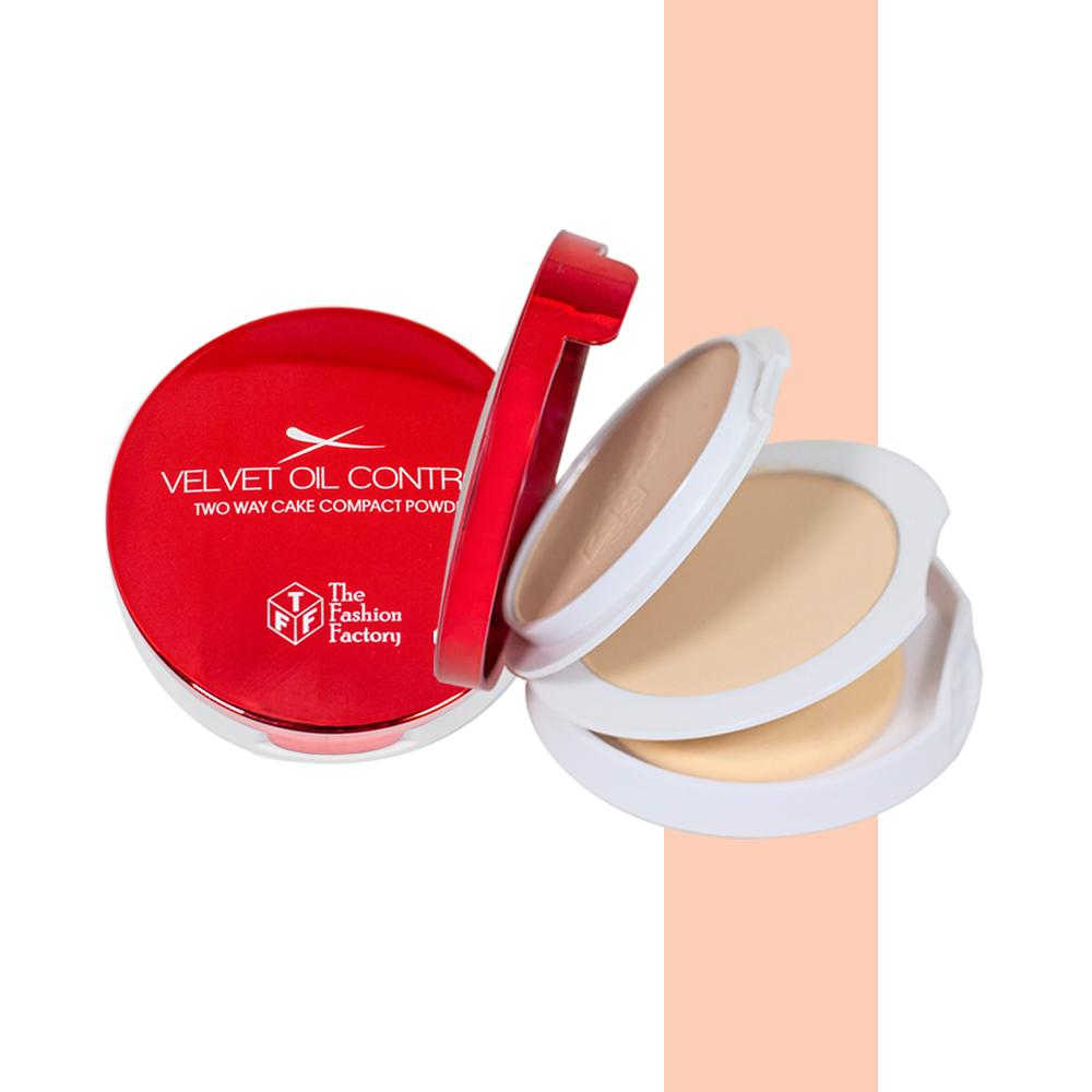 TFF Velvet Oil Control Two Way Cake Compact Powder 1