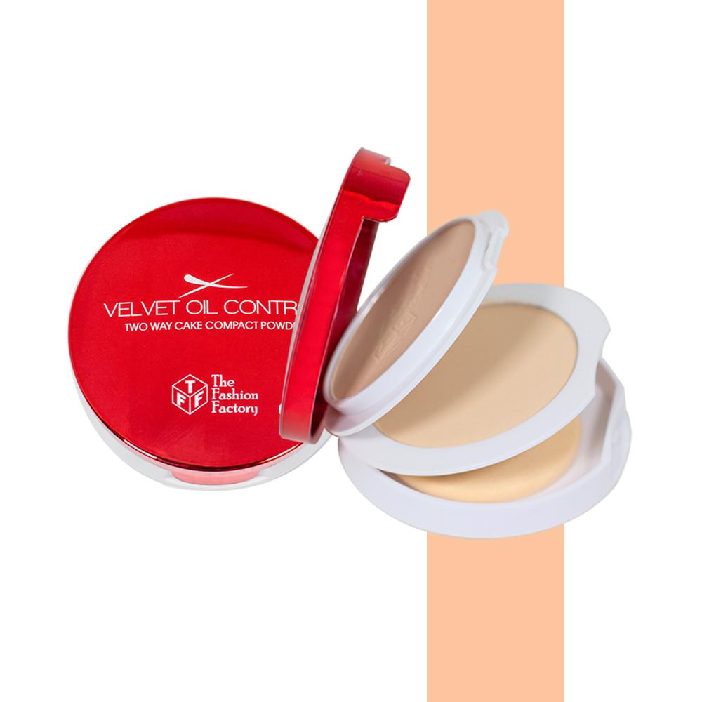 TFF Velvet Oil Control Two Way Cake Compact Powder 2