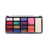 TFF 12 Color Eyeshadow + 2 Color Blush + Compact Powder Shade 01