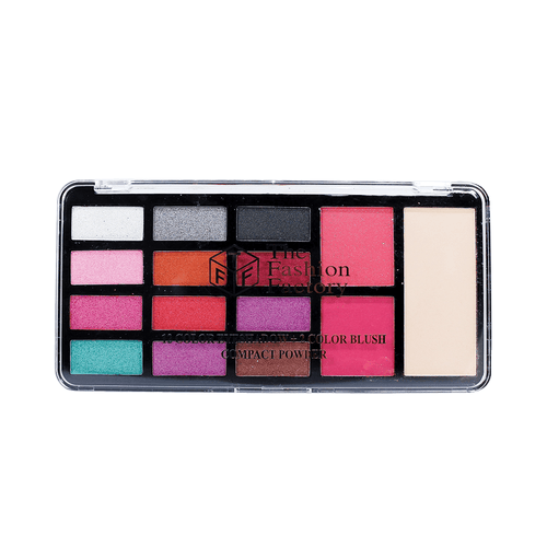 TFF 12 Color Eyeshadow + 2 Color Blush + Compact Powder Shade 02