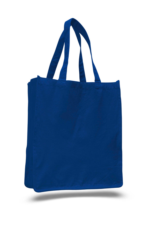 Royal canvas tote bag, tote bags for work, reusable grocery tote,