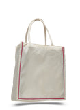 Red stripe cotton shopping totebag, reusable grocery bag, reusable shopping bags, customized tote bags, tote bag custom