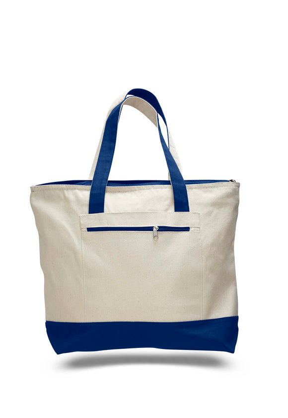 Royal Blue heavy canvas zippered tote bags, tote bags with zipper, tote bags zipper, zipper tote bags, tote bag with zipper,