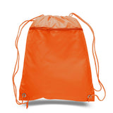 Bulk drawstring bags, cheap drawstring bags, orange drawstring bag, drawstring bags bulk, cinch bags,