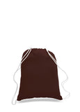 Brown cotton drawstring backpack, personalized backpacks, customizable backpacks, string backpacks, cheap totes