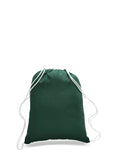 Forest Green cotton drawstring backpack, personalized backpacks, customizable backpacks, string backpacks, cheap totes
