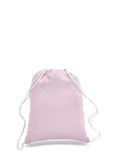 Light Pink cotton drawstring backpack, personalized backpacks, customizable backpacks, string backpacks, cheap totes