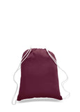 Maroon cotton drawstring backpack, personalized backpacks, customizable backpacks, string backpacks, cheap totes