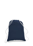 Navy cotton drawstring backpack, personalized backpacks, customizable backpacks, string backpacks, cheap totes