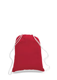 Red cotton drawstring backpack, personalized backpacks, customizable backpacks, string backpacks, cheap totes