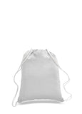 White cotton drawstring backpack, personalized backpacks, customizable backpacks, string backpacks, cheap totes