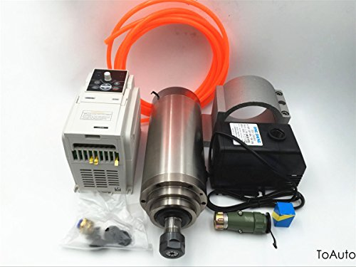 Spindle Motor 4.5KW & VFD Driver Inverter CNC Engraving Kit 220V ER20 4 Bearings 13A 24000rpm