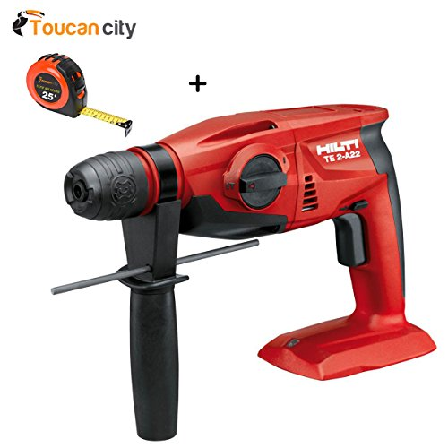 Toucan City Tape Measure and Hilti 22-Volt Lithium-Ion SDS Plus Cordless Rotary Hammer Drill TE 2-A Tool Body 2149902