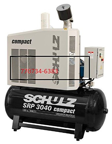 SCHULZ 40HP SRP 3040 AIR COMPRESSOR ROTARY SCREW 155 CFM- NEW