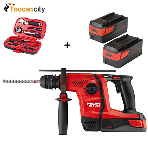 Toucan City Tool Kit (9-Piece) and Hilti 36-Voltt Lithium-Ion 1/2 in. SDS Plus Cordless Rotary Hammer TE 6-A36 Industrial Trade PKG 3554452