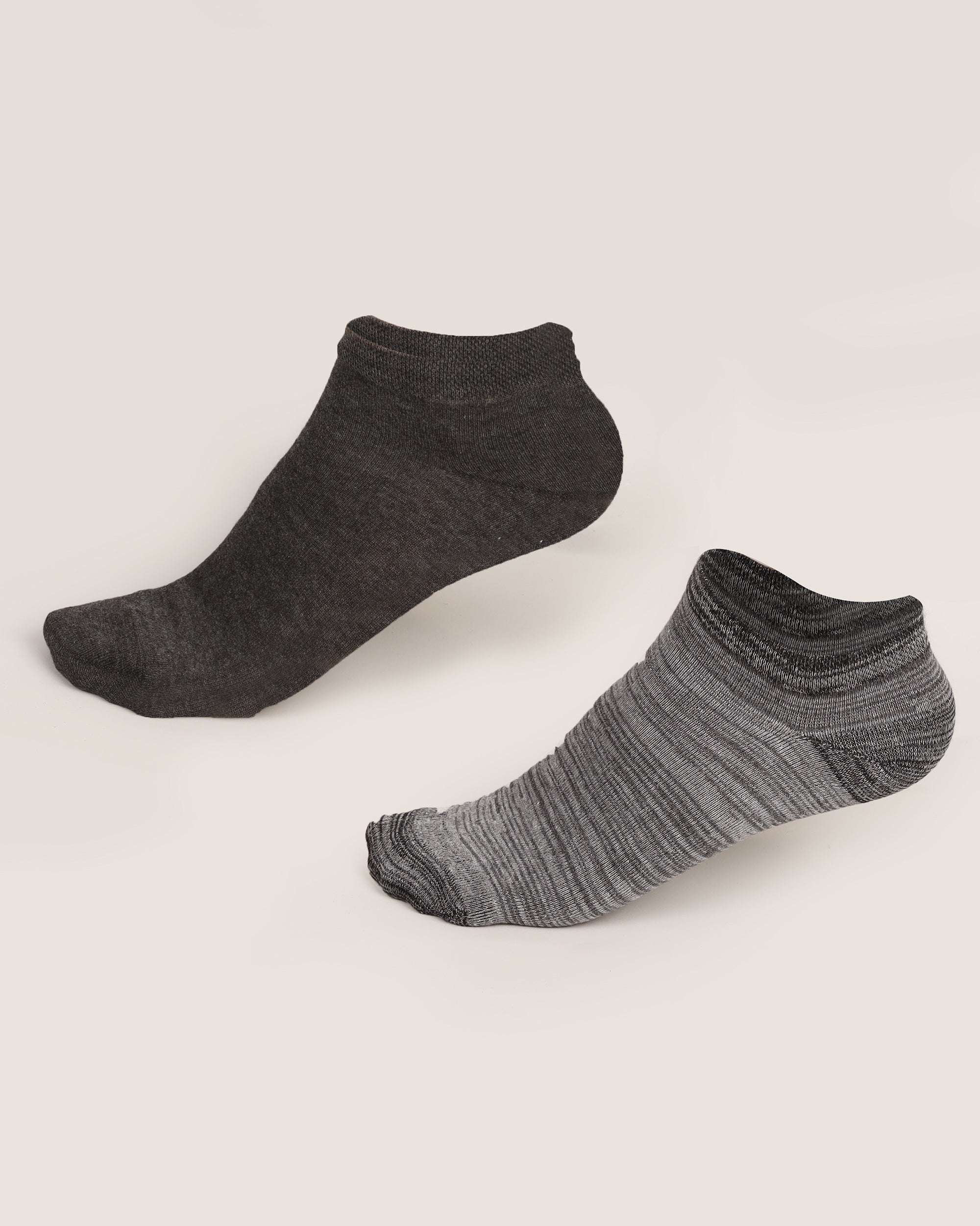 TEXTURED ANKLE SOCKS PACK OF 2