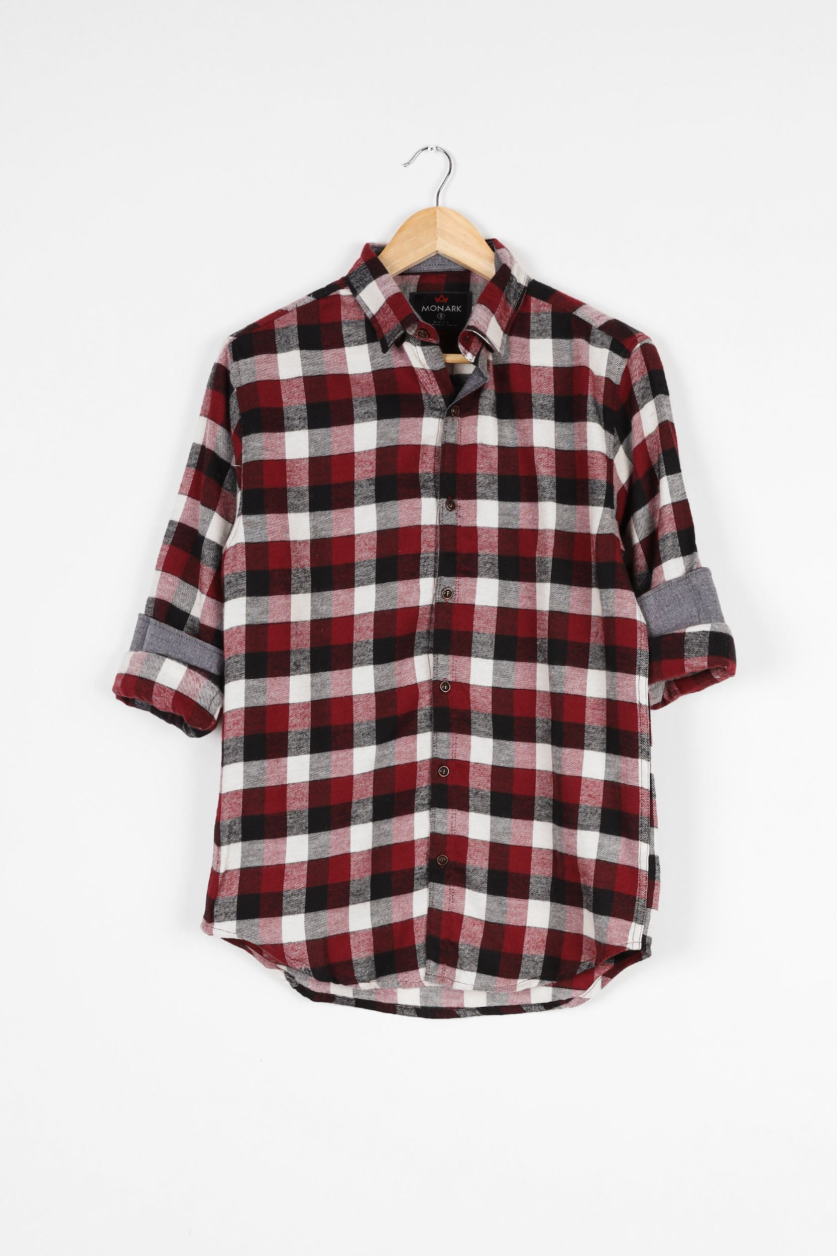 CHECKERED SLIM FIT FLANNEL SHIRT