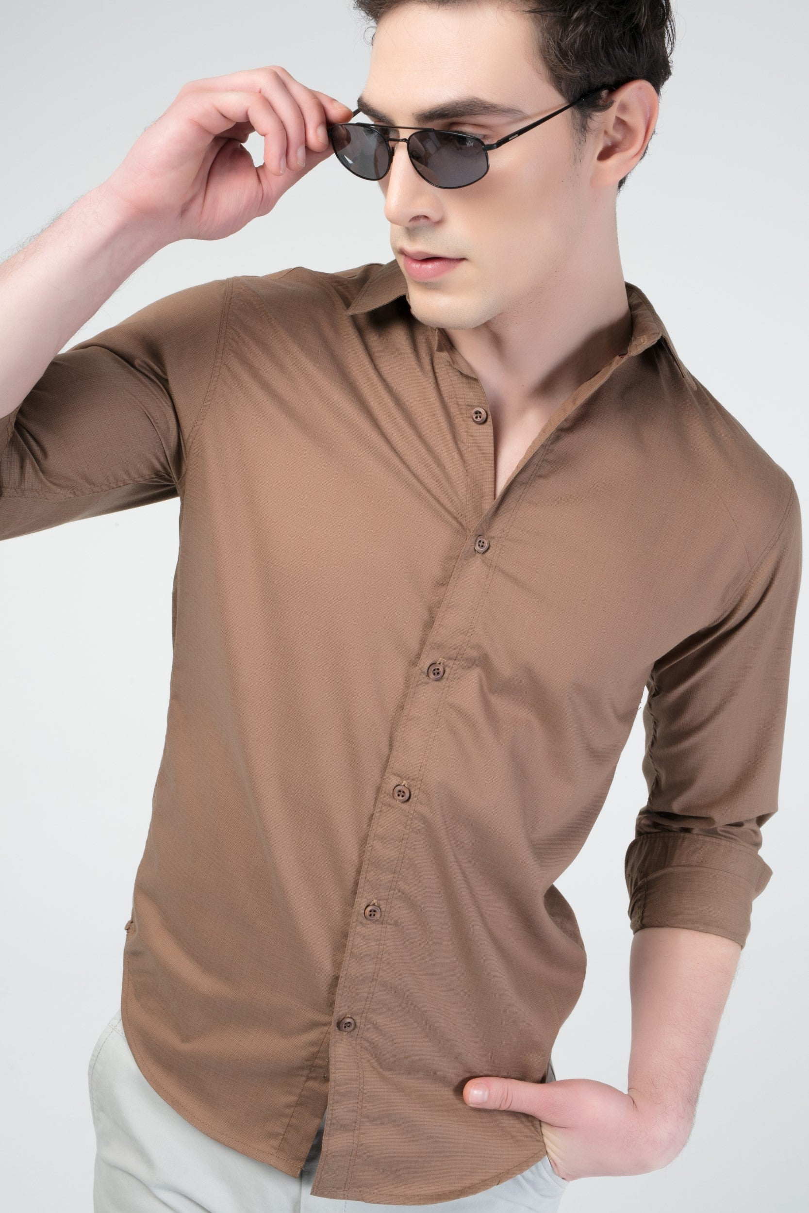 MICRO TEXTURED CASUAL SHIRT