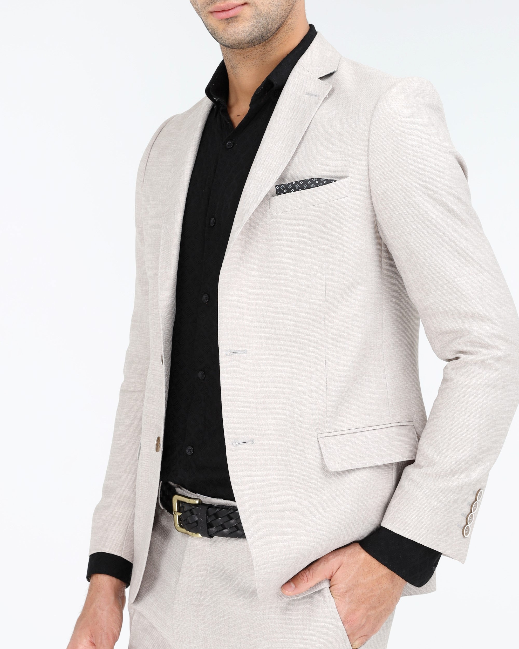 MADE IN TURKEY - LINEN 2-PCS SLIM FIT SUIT