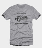 Aliens Peace through Superior Firepower T-Shirt