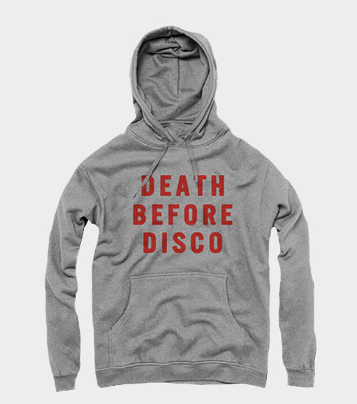 Death Before Disco Stripes Hoodie