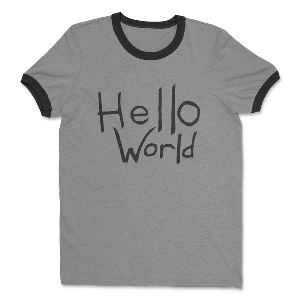 Robotman Hello World Ringer Shirt