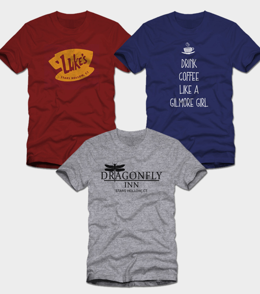 fd94a21f975ef Gilmore Girls 3 Pack of Shirts  1 -  29.99 – Poputees.com