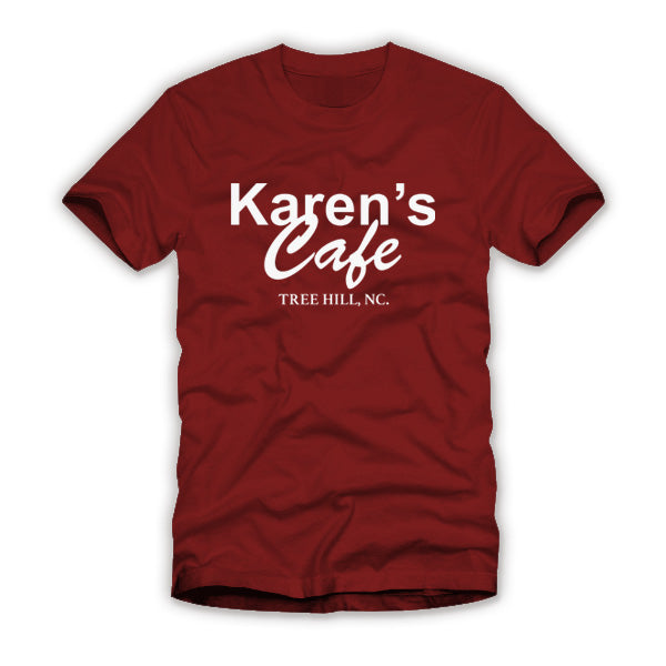 Karen's Cafe One Tree Hill Maroon Shirt