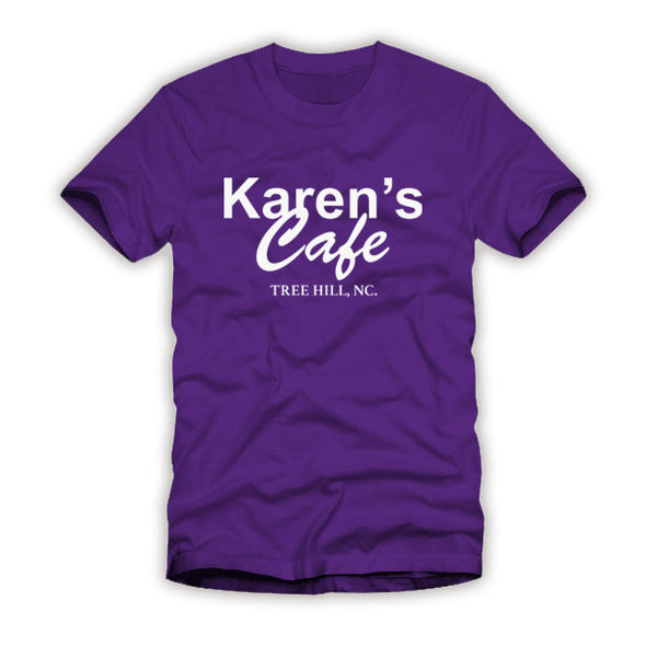 Karen's Cafe One Tree Hill Purple Shirt