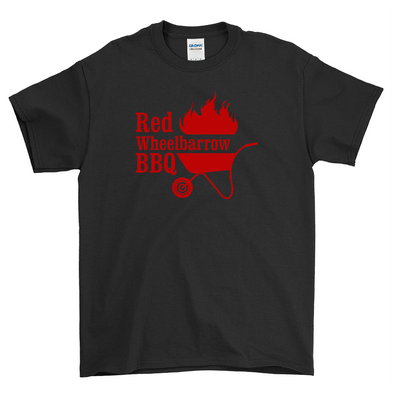 Red Wheelbarrow BBQ Black Shirt