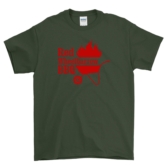 Red Wheelbarrow BBQ Mil Green Shirt