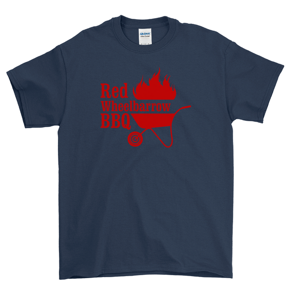 Red Wheelbarrow BBQ Navy Shirt
