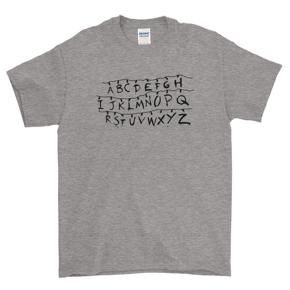 Stranger Things Alphabet Heather Shirt