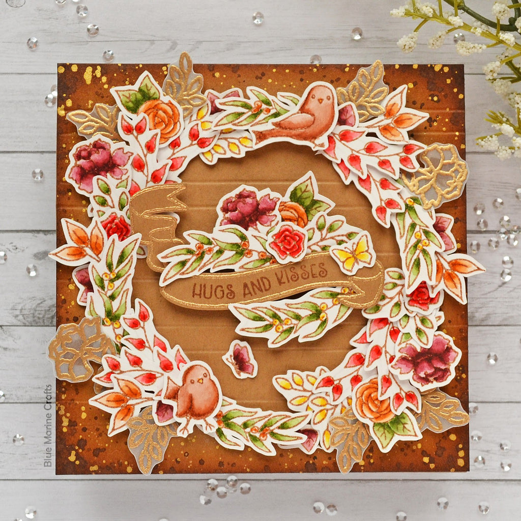 Beautiful Fall Wreath Card