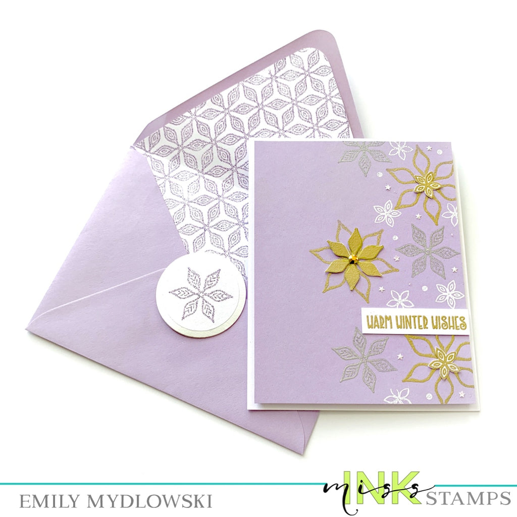 A Winter Snowflake Stationery Trio