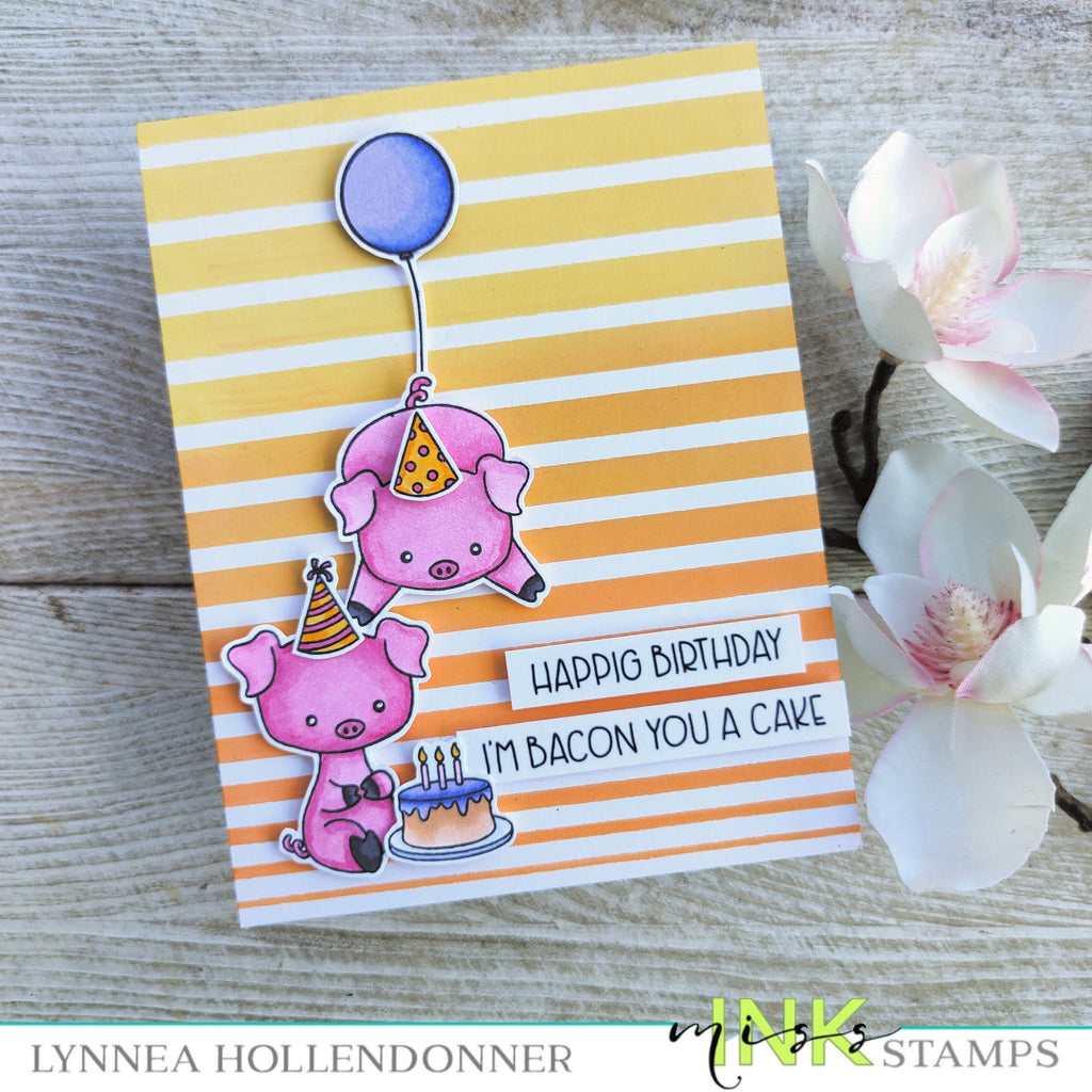 Punny Farm Pigs Birthday Card