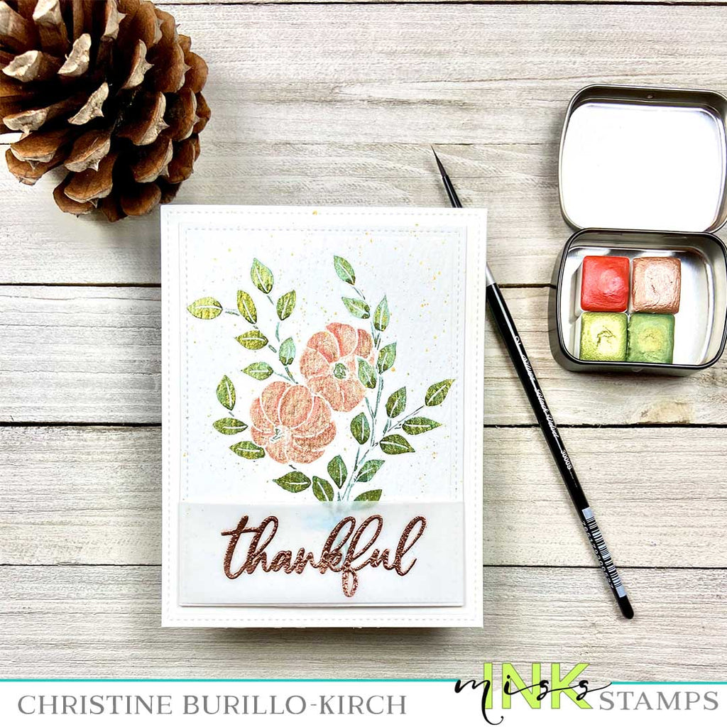 Watercolor Thankful Card
