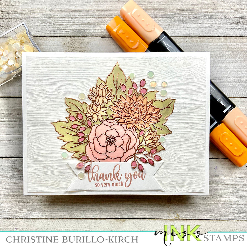 Fall Floral Thank You Card