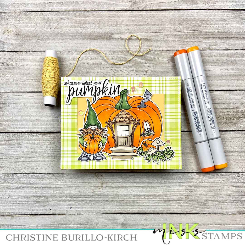 Pumpkin Spiced House card
